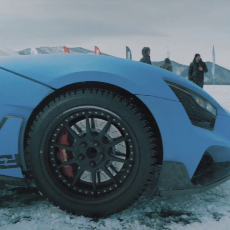 Гонки на льду. Байкал.